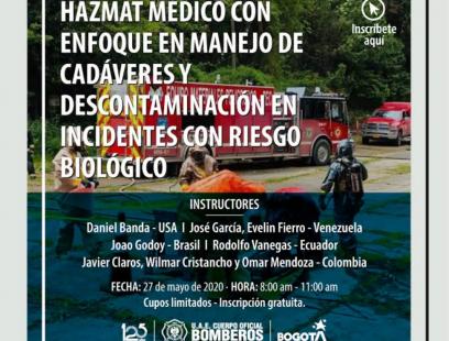 Foro Hazmat médico y descontaminación en incidente con riesgo biologico