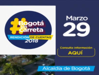 Rendición de Cuentas 2018 Alcaldía de Bogotá