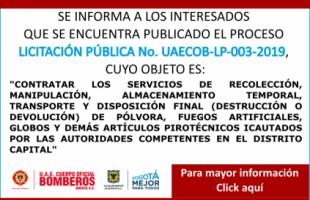 LICITACIÓN PÚBLICA No. UAECOB-LP-003-2019