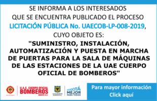 LICITACIÓN PÚBLICA No. UAECOB-LP-008-2019
