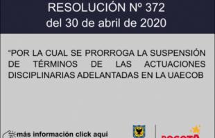 RESOLUCIÓN Nº 372 DEL 30 DE ABRIL DE 2020