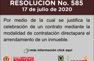 Resolución 585 de 2020