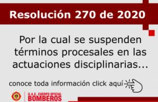 Resolución 270 de 2020