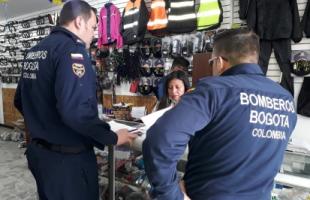 Se reanudan las inspecciones técnicas de seguridad humana en establecimientos de comercio en Bogota