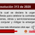 Resolución 313 de 2020